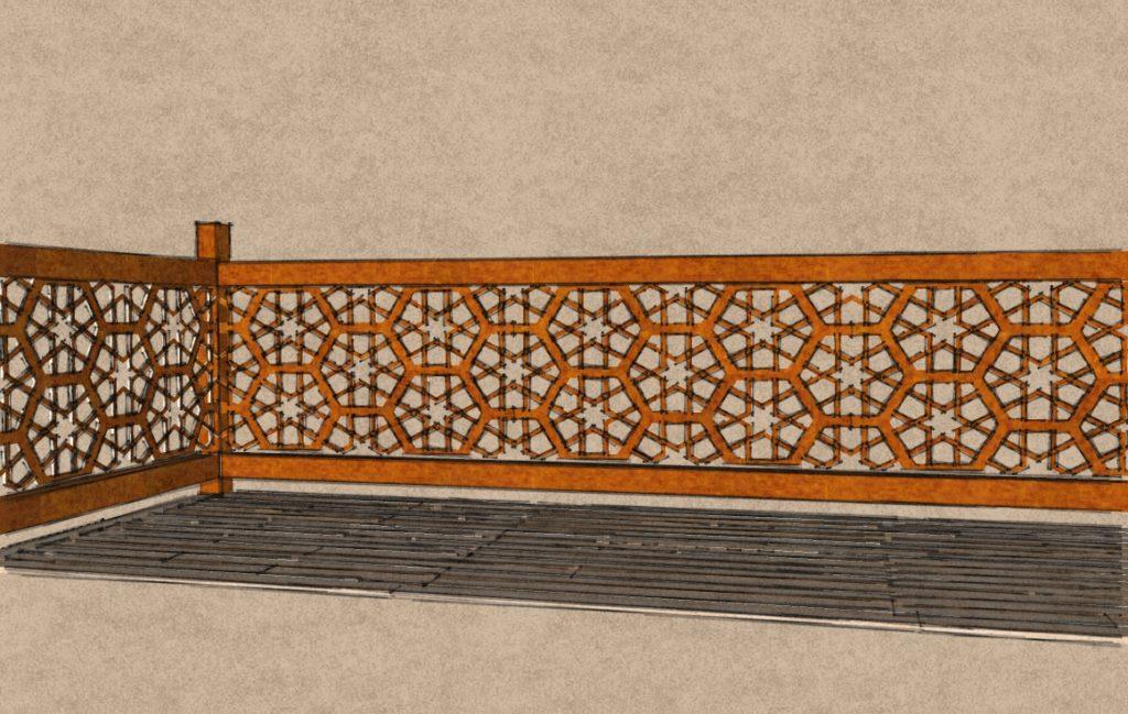 Garde-corps - Corten - Gamme Taj Mahal Motif Naubat Khana - Green Perspective