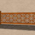 Créations - Terrasse - Garde-corps - Corten - Gamme Taj Mahal Motif Naubat Khana - Green Perspective