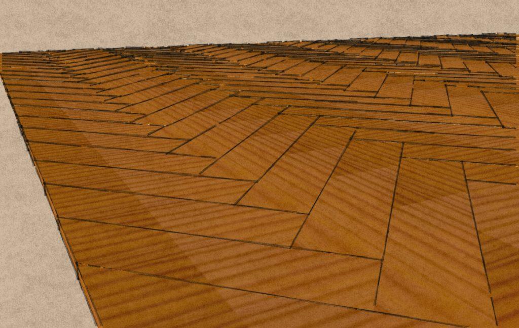 Créations - Terrasse - Bois naturel, composite - Gamme Bâton rompu - Green Perspective
