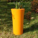 Créations - Mobilier - Bac de plantation - Composite, Polyester - Gamme Parga Orange - Green Perspective