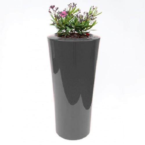 Créations - Mobilier - Bac de plantation - Composite, Polyester - Gamme Parga Noir - Green Perspective