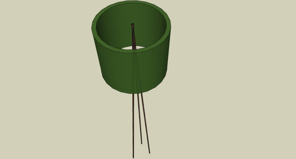 Lampe anatra a tre zampe - Corten - Green Perspective